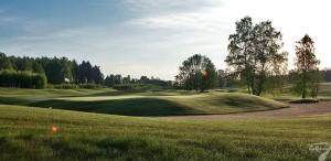 Budowa pola golfowego / galeria pól golfowych - kompleks greenu golfowego dołka na polu golfowym Mazury Golf.